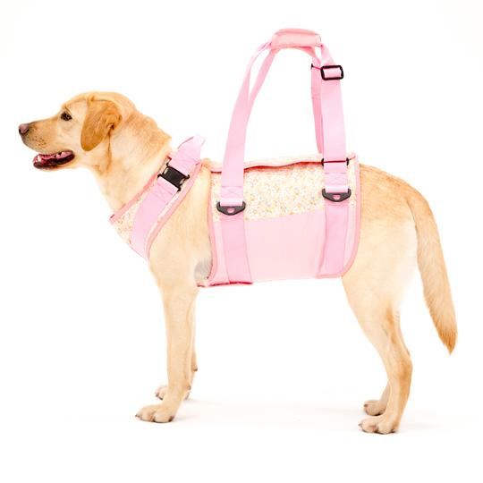 歩行補助ハーネスLaLaWalk大型犬用[花柄]