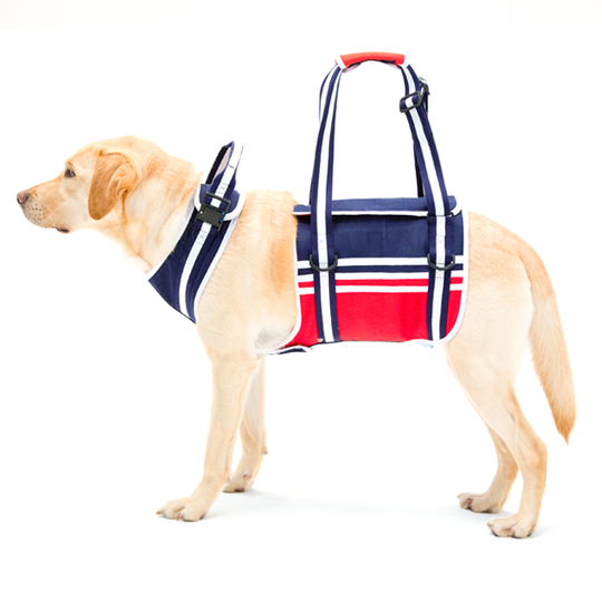 歩行補助ハーネスLaLaWalk大型犬用 トリコロール[ブルー]