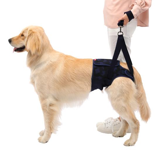 歩行補助ハーネスLaLaWalk Hip 大型犬用[迷彩ネイビー]