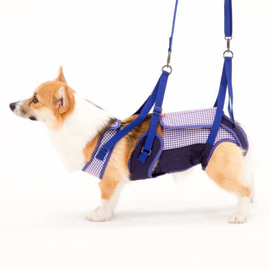 歩行補助ハーネスLaLaWalk中型犬・コーギー用[ギンガム]