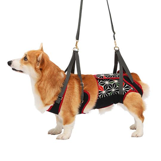 歩行補助ハーネスLaLaWalk中型犬・コーギー用[KABUKI]